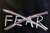 Leadership authors and speakers, Bob and Gregg Vanourek, use this picture of an x'd out fear to show the importance of overcoming fear.