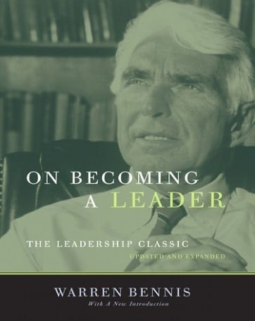 Leadership speaker and author,Gregg Vanourek, uses this group of pictures, one of Warren Bennis as a young man, one of his book, On Becoming a Leader, and one of him as an old man, to show a timeline of Warren Bennis'  life.