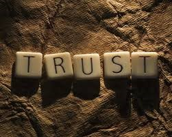 "Leadership speakers and authors Bob Vanourek and Gregg Vanourek use an image of the word ""Trust"" to emphasize the importance of trusting yourself."